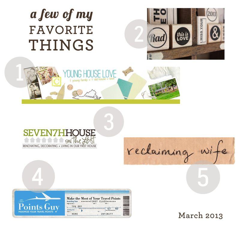 Favorite Things 3.13