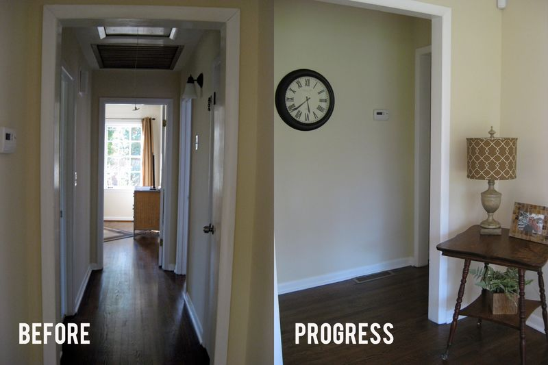 Hallway Before & Progress