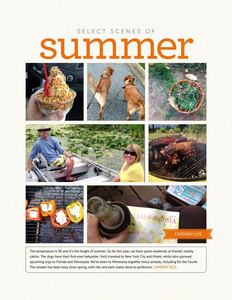 2013 Journal Summer Scenes